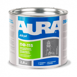 Эмаль Aura ПФ-115 А 2,8 кг салатовый