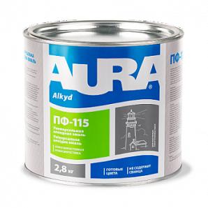 Эмаль Aura ПФ-115 А 0,9 кг серый