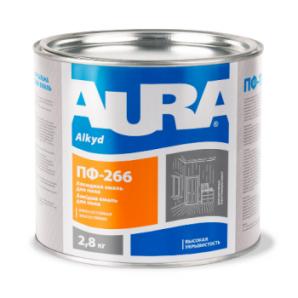 Эмаль Aura ПФ-266 для пола А 0,9 кг красно-коричневый