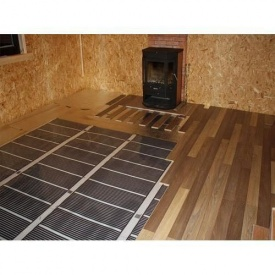 Монтаж теплої підлоги під легкі покриття