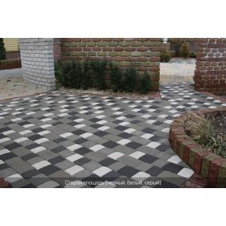 Тротуарна плитка Золотий Мандарин Стара площа на сірому цементі 160х160х80 мм