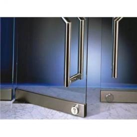 Скляні маятникові двері з підлоговим доводчиком