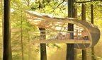 Дом на дереве, который не вредит дереву, и не ограничивает его рост - красиво и экологично ФОТО