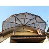 Навес для балкона из поликарбоната