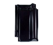 Черепиця Braas Рубін 13V Топ глазур 435х276 мм діамантово чорний