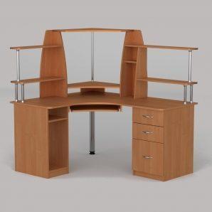 Компьютерный стол Компанит СУ-11 1500х1250х736 мм ольха