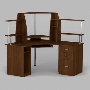Компьютерный стол Компанит СУ-11 1500х1250х736 мм орех