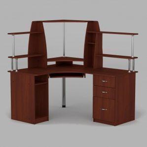 Комп'ютерний стіл Компанит СУ-11 1500х1250х736 мм яблуня