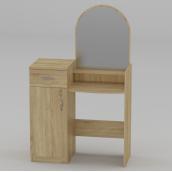 Туалетный столик Компанит Трюмо-1 856х1390х390 мм дуб сонома