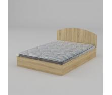 Двомісне ліжко Компаніт-140 1444х750х2042 мм дуб сонома