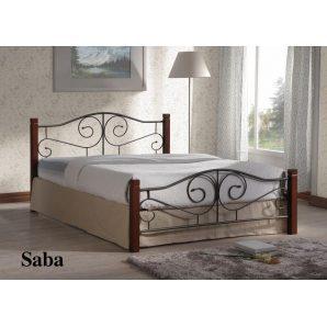 Кровать ONDER MEBLI Saba 1400х2000 мм античное золото/орех