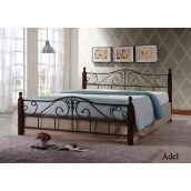 Кровать ONDER MEBLI Adel 1600х2000 мм античное золото/орех