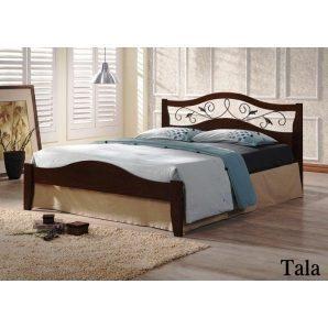Кровать ONDER MEBLI Tala 1600х2000 мм античное золото/орех