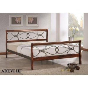 Кровать ONDER MEBLI Adevi-HF 1600х2000 мм античное золото/орех