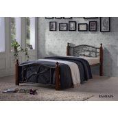 Кровать ONDER MEBLI Bahrain 900х2000 мм черный/вишня