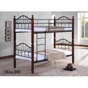 Двухъярусная кровать ONDER MEBLI DD Mira 1000х2000х1800 мм черный/яблоня