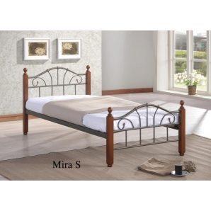 Кровать ONDER MEBLI Mira S 900х1900 мм античное золото/орех