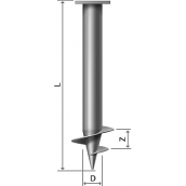 Гвинтові паля 108х4 мм 300 мм 3 м