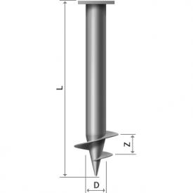 Винтовая свая 89х4 мм 250 мм 1,5 м
