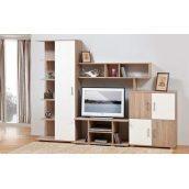 Стенка для гостиной Мир мебели Виннер 3 258x187x47 см дуб Сонома/белый лак
