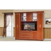 Стенка для гостиной Мир мебели Версаль 1 237x226x61 см каштан лак