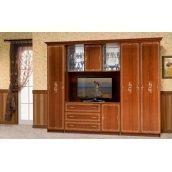Стенка для гостиной Мир мебели Версаль 2 282x226x61 см каштан лак