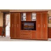 Стенка для гостиной Мир мебели Версаль 3 327x226x61 см каштан лак