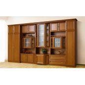 Стенка для гостиной Мир мебели Сенатор 3,6 368x213x58 см орех