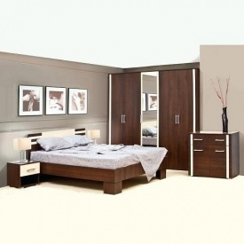Спальня Світ меблів Елегія 5Д лімба шоколад/клен
