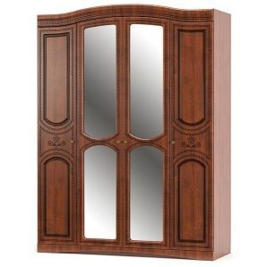 Шкаф Мебель-Сервис Милано 4Д 1700х2265х560 мм вишня