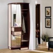 Прихожая Мир мебели Ева 82x208x75 см темный венге/светлый венге