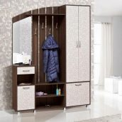 Прихожая Мир мебели Каролина 164x220x40 см дуб Борас/роял