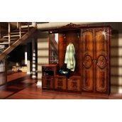 Прихожая Мир мебели Бристоль Новый 255x234x51 см орех лак