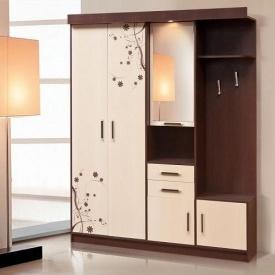 Передпокій Світ меблів Силует 2 167x209x47 см темний венге/світлий венге