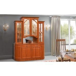 Стенка для гостиной Мир мебели Цезарь 170x224x59 см орех