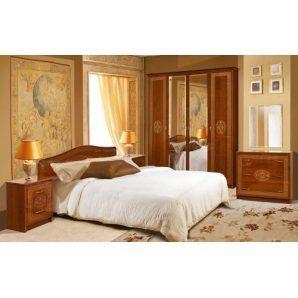 Спальня Мир мебели Флоренция 6Д каштан лак