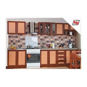 Кухня БМФ Тіна Нова с пеналом 2,6 м ротанг  артемида