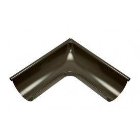 Зовнішній кут жолоба Акведук Преміум 90 градусів 125 мм темно-коричневий RAL 8019