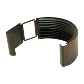З'єднувач жолоба Акведук Преміум 125 мм темно-коричневий RAL 8019