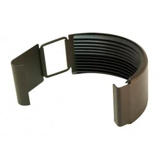 Соединитель желоба Акведук Премиум 125 мм темно-коричневый RAL 8019