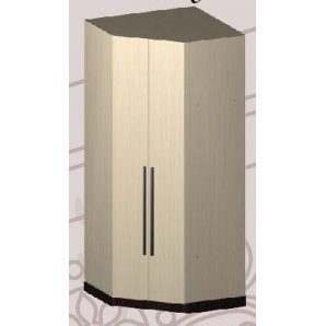 Шкаф Мастер Форм Арья 960х960/520х2200 мм угловой венге темный/дуб молочный