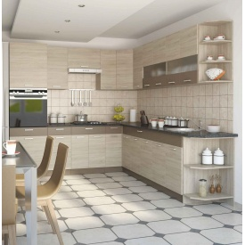 Кухня СОКМЕ Алина 2 м без столешницы дуб сонома/мокка