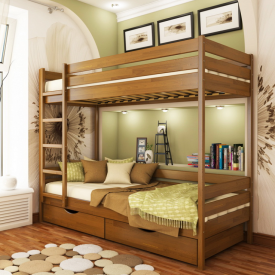 Ліжко двоярусне Естелла Дует 103 90x200 см масив