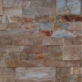 Камень соломка ALEX Group Турецкое дерево рыже-коричневый