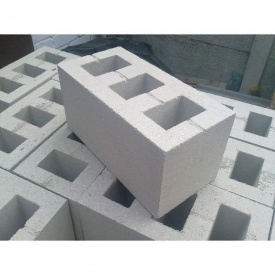Шлакоблок вибропрессованный ALEX Group 200х200х400 мм серый