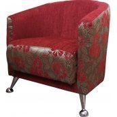 Кресло мягкое Мебель Прогресс Фиеста-М 690x690x750 мм красное