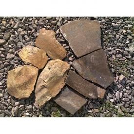 Тротуарный камень ALEX Group Закарпатский андезит 5 см шоколадно-коричневый