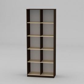 Книжкова шафа Компанит КШ-2 2056x836x360 мм венге