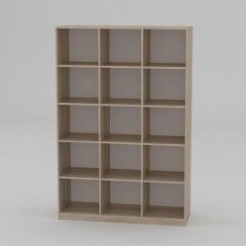 Книжкова шафа Компанит КШ-3 1950x1300x448 мм дуб сонома