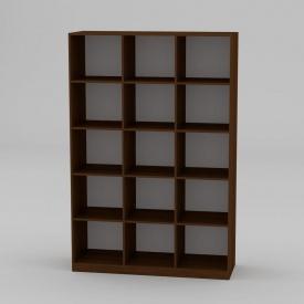 Книжкова шафа Компанит КШ-3 1950x1300x448 мм горіх еко